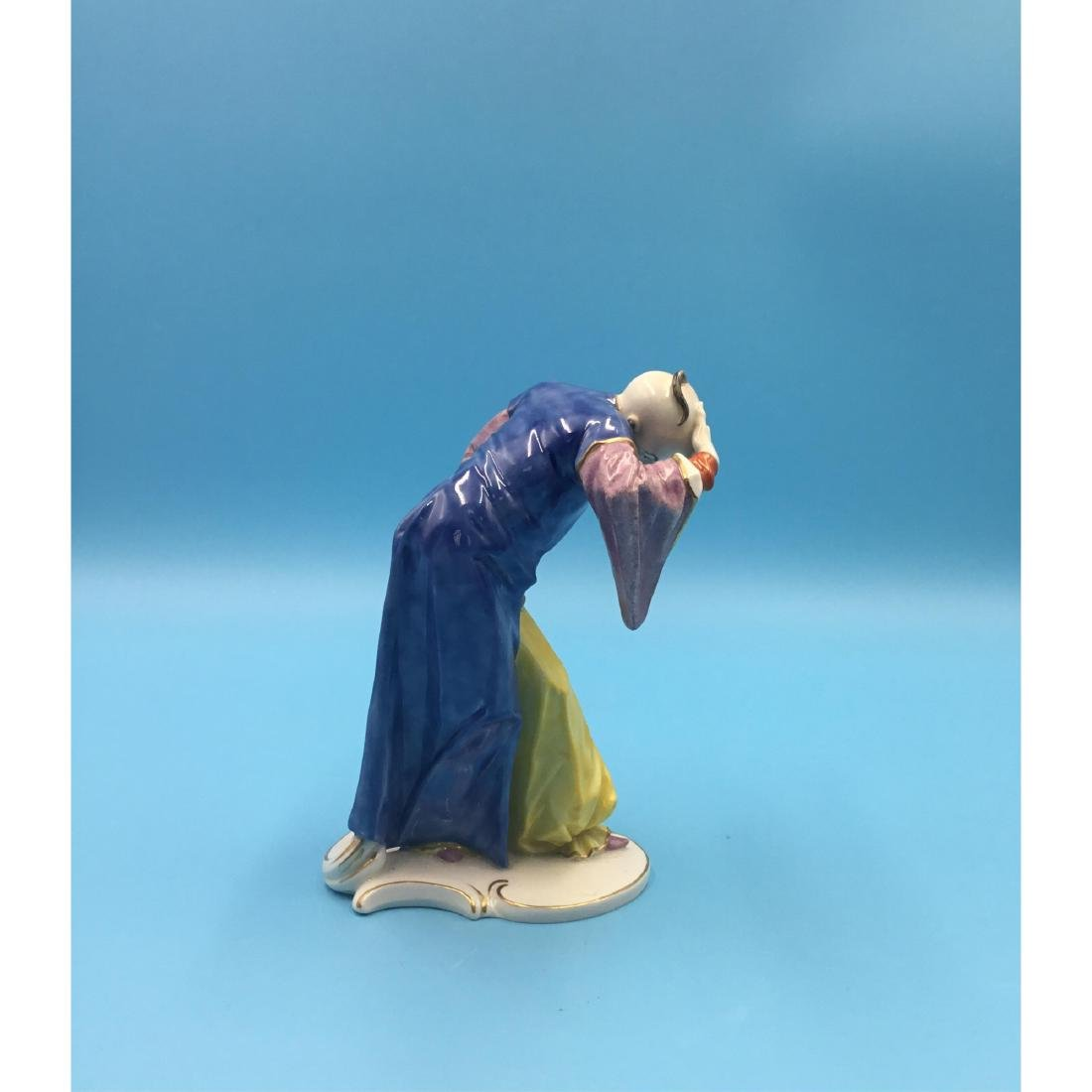 NYMPHENBURG CHINOISERIE GERMAN PORCELAIN FIGURINE - 4