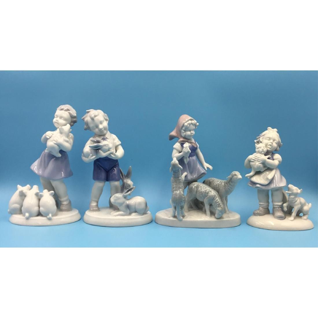GROUP OF 4 GEROLD BAVARIA PORCELAIN FIGURINES