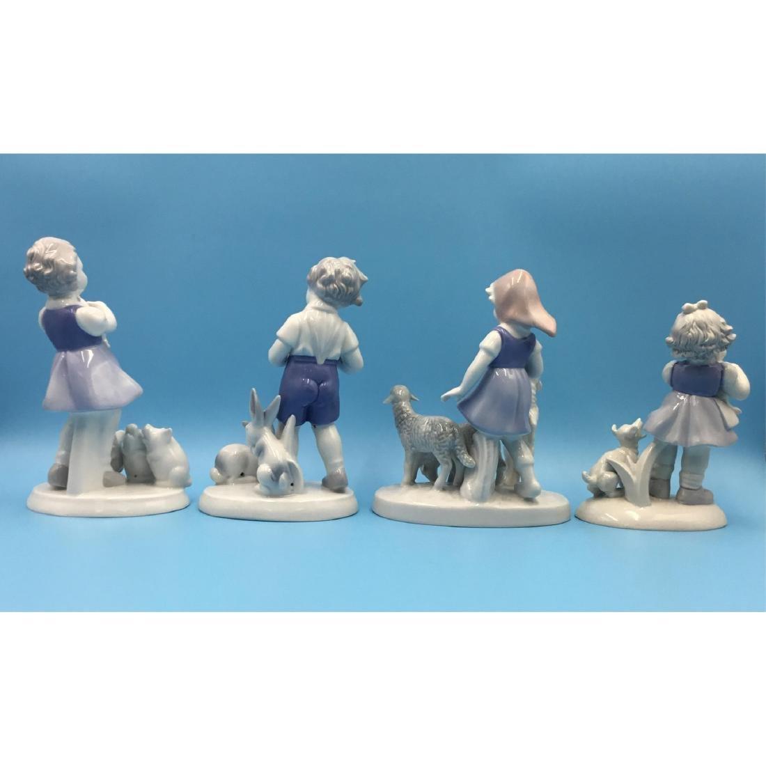 GROUP OF 4 GEROLD BAVARIA PORCELAIN FIGURINES - 3