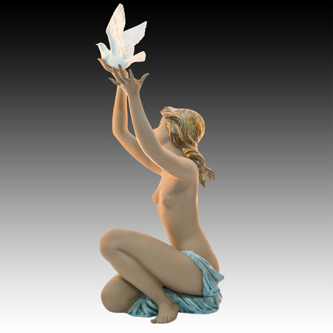 "LLADRO ""PEACE OFFERING"" PORCELAIN FIGURINE - 4"