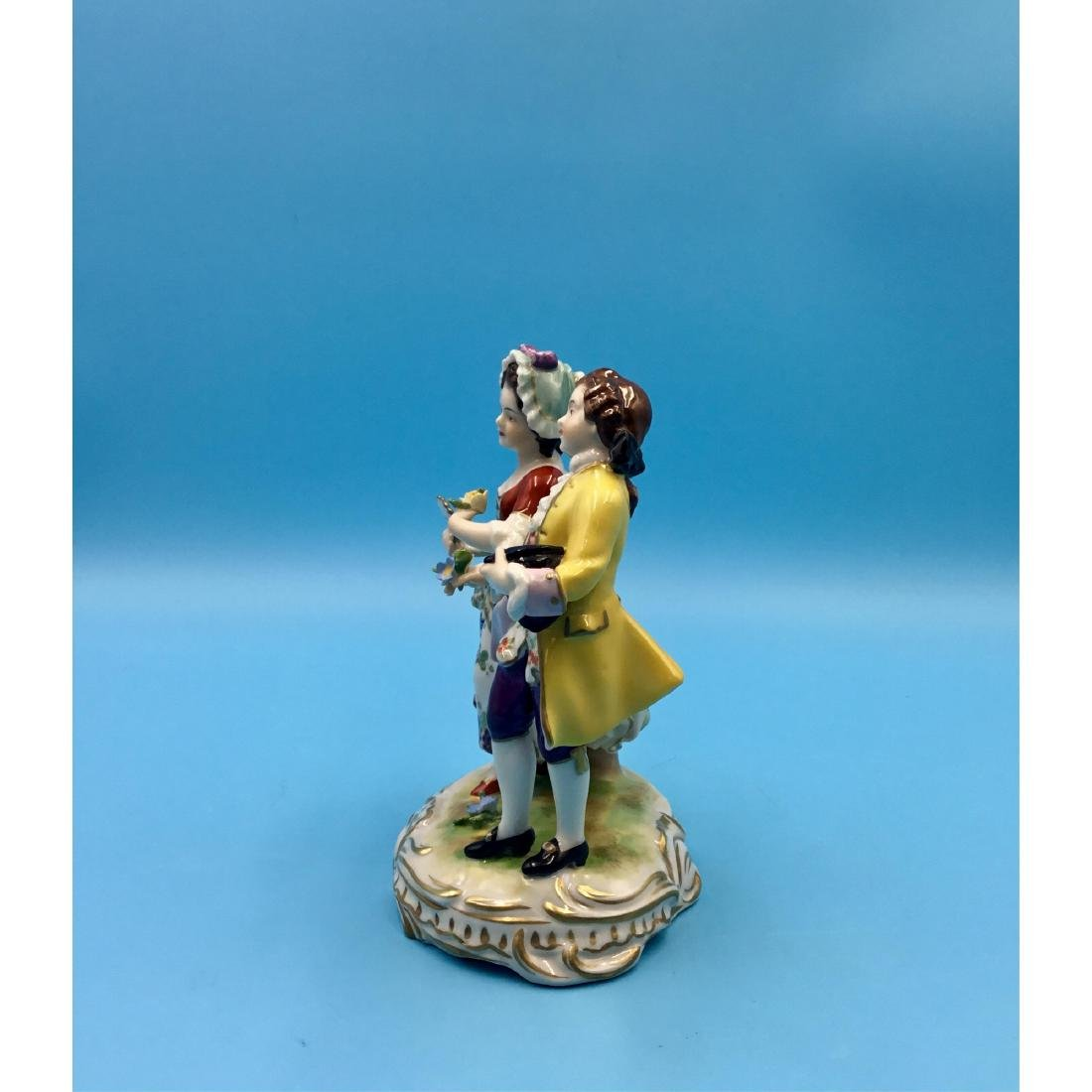 VOLKSTEDT GERMAN PORCELAIN GROUP FIGURINE - 2