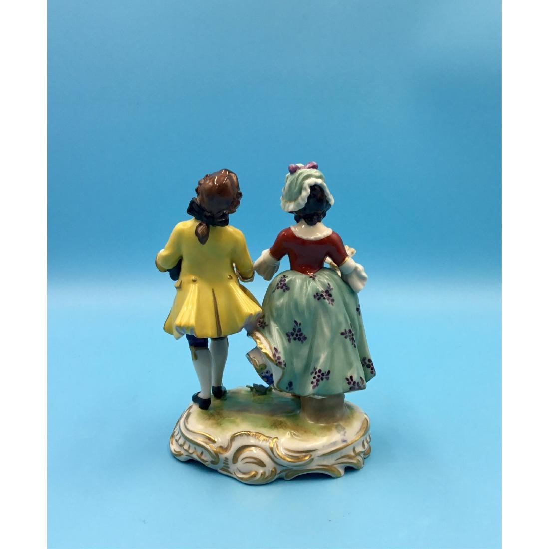 VOLKSTEDT GERMAN PORCELAIN GROUP FIGURINE - 3
