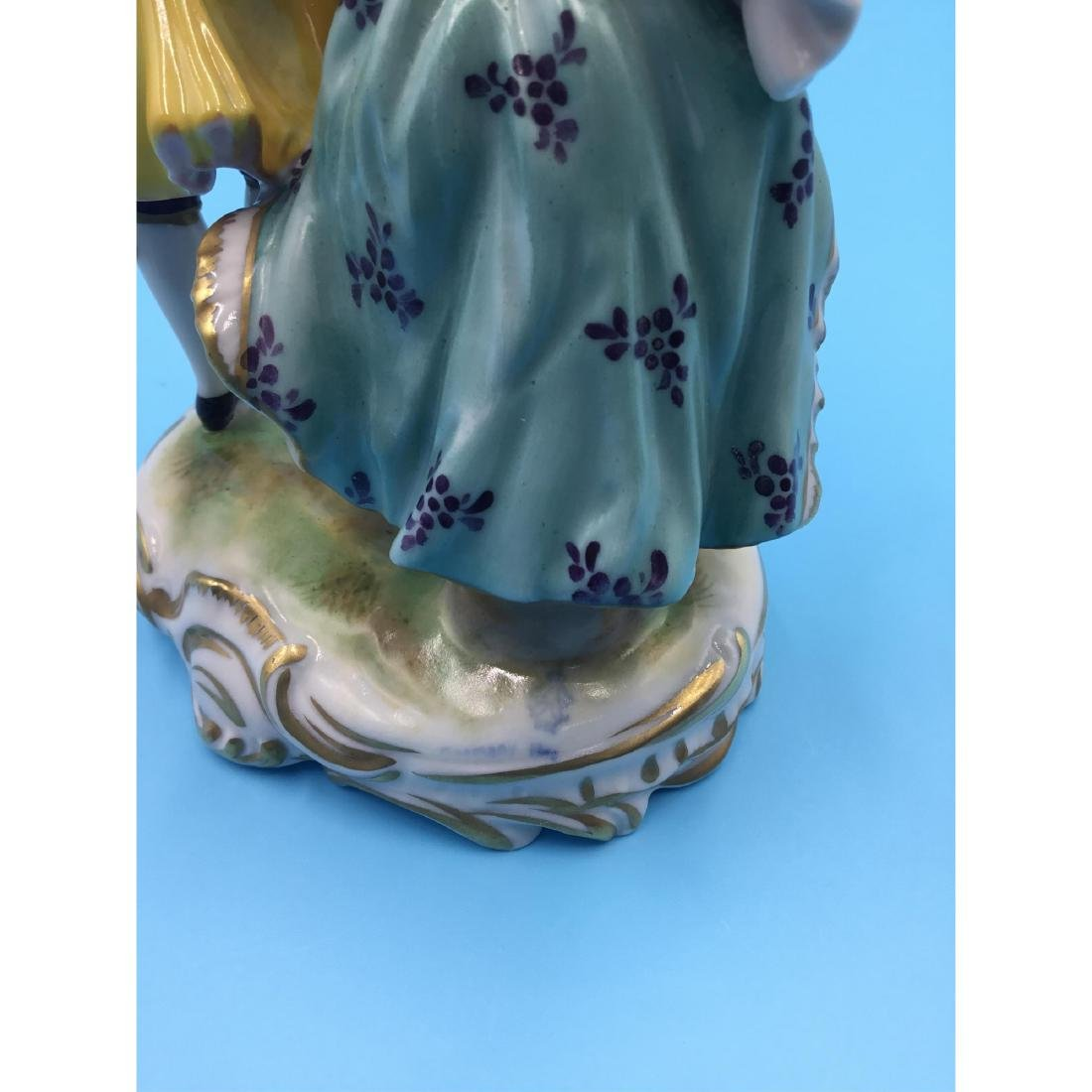 VOLKSTEDT GERMAN PORCELAIN GROUP FIGURINE - 4