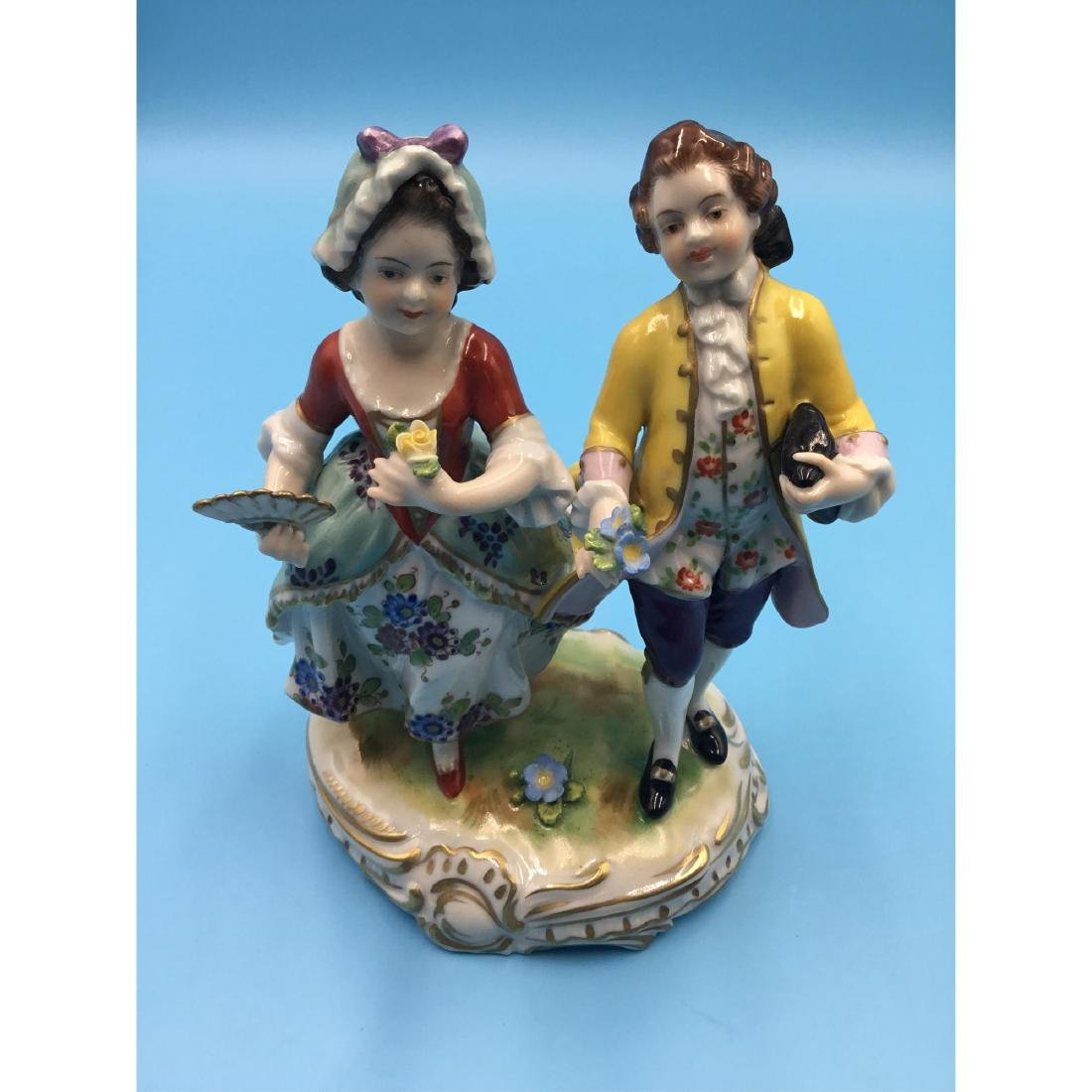 VOLKSTEDT GERMAN PORCELAIN GROUP FIGURINE - 7