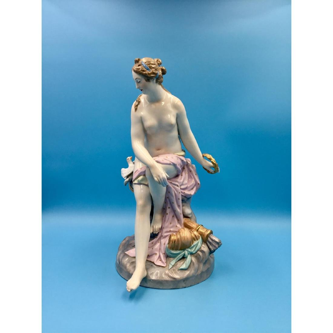 KPM 19THC LARGE GERMAN PORCELAIN STATUE NUDE - 2
