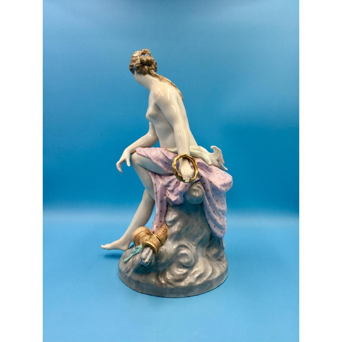 KPM 19THC LARGE GERMAN PORCELAIN STATUE NUDE - 3