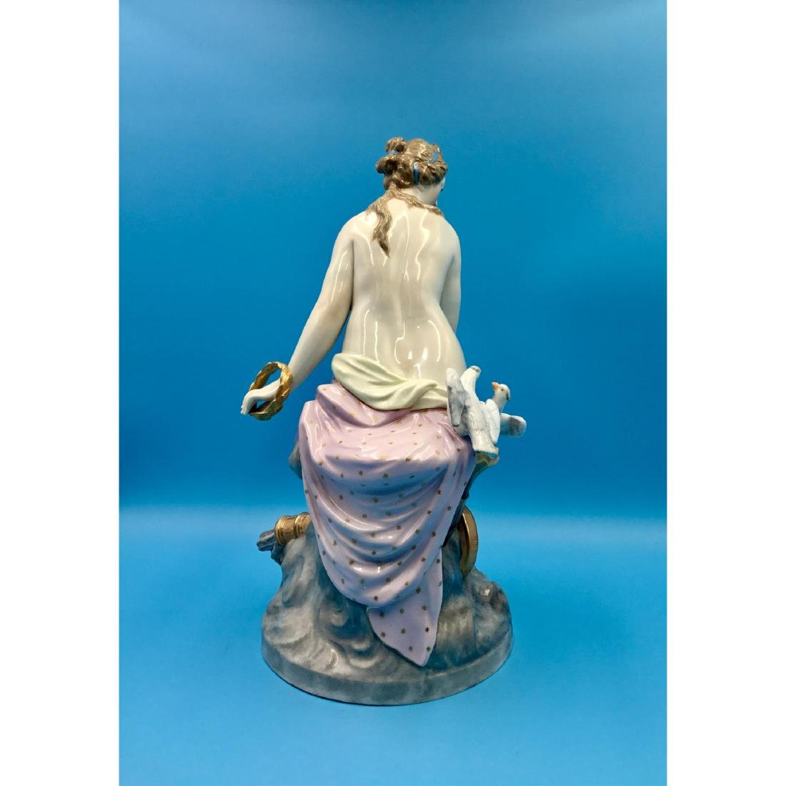 KPM 19THC LARGE GERMAN PORCELAIN STATUE NUDE - 4