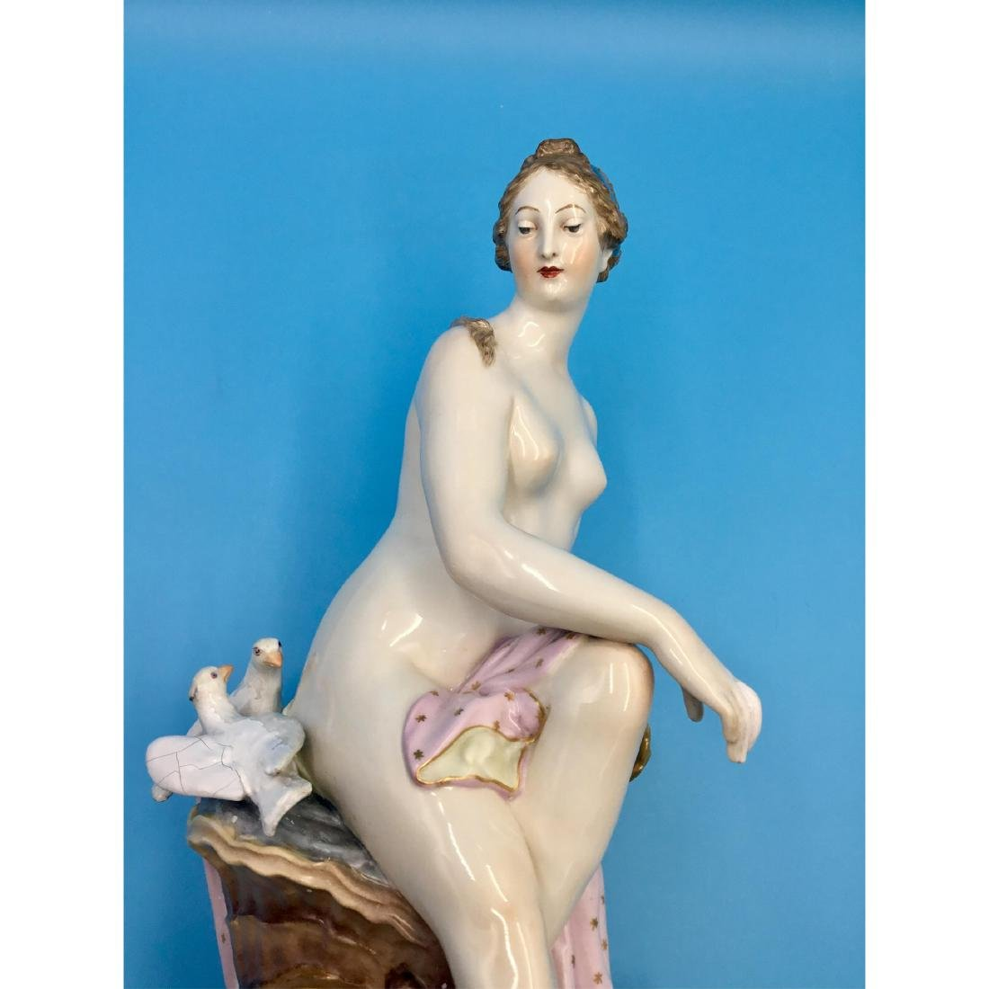 KPM 19THC LARGE GERMAN PORCELAIN STATUE NUDE - 6