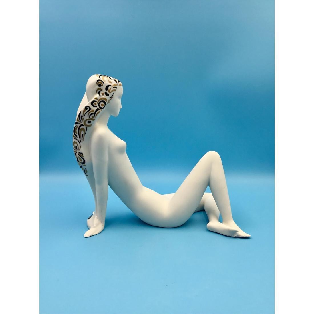 ROYAL DUX BOHEMIA NUDE ART DECO FIGURINE - 3