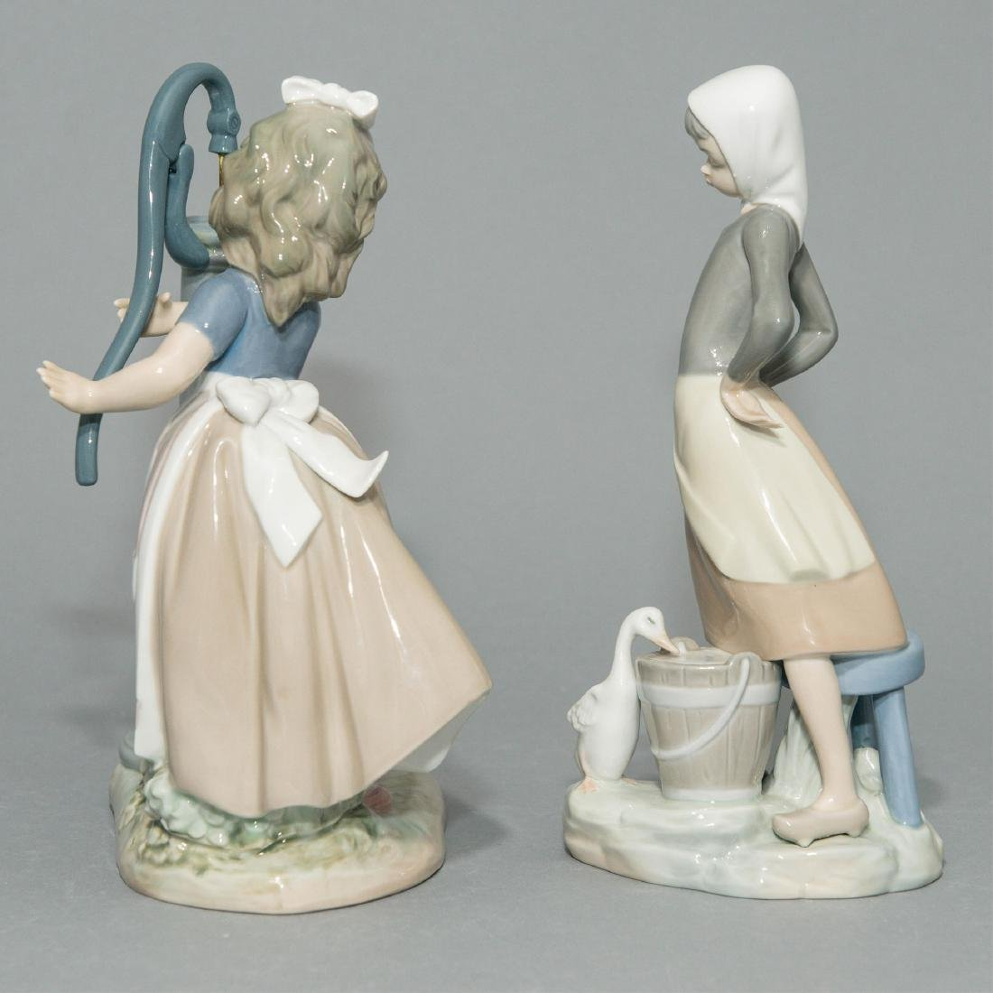 LLADRO GIRL WITH MILK PAIL AND SUMMER FIGURINES - 2
