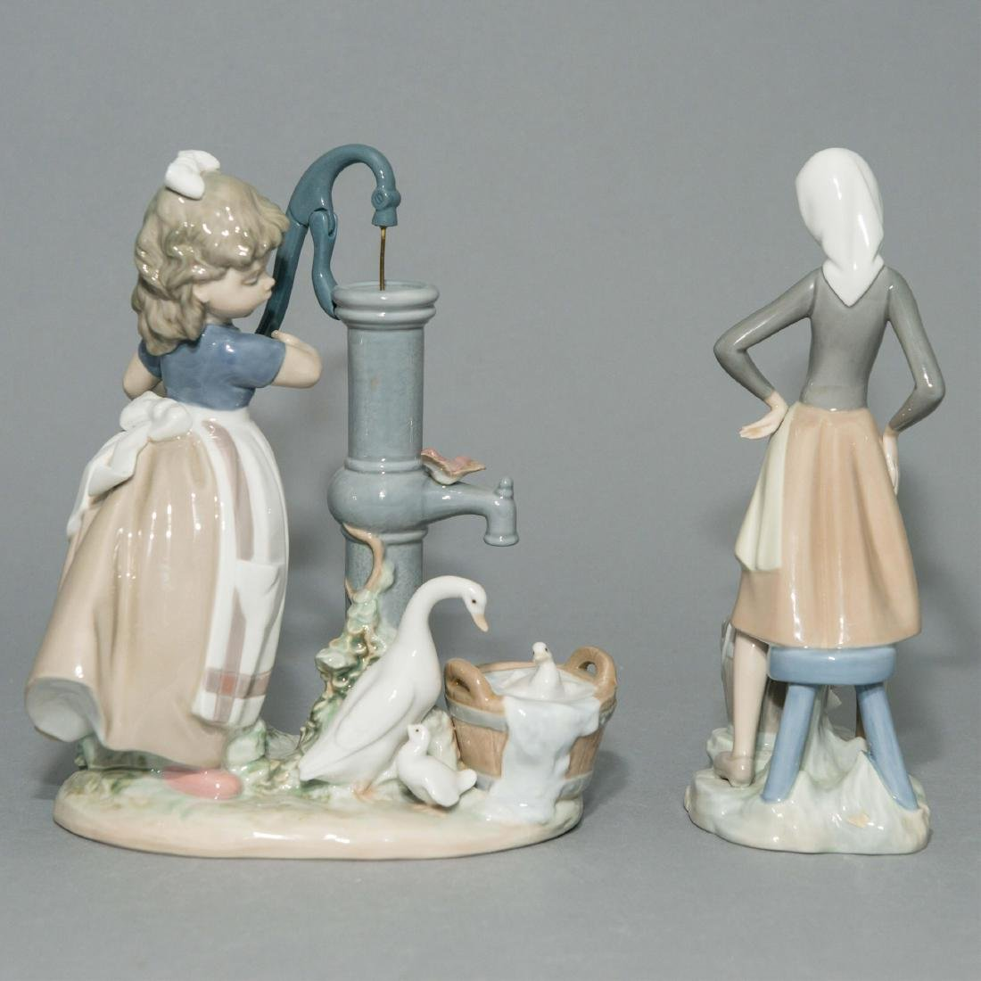 LLADRO GIRL WITH MILK PAIL AND SUMMER FIGURINES - 3