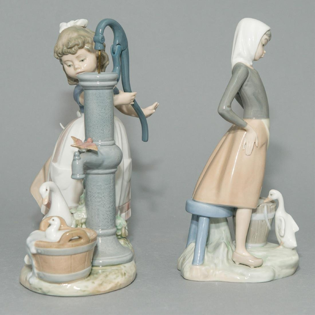 LLADRO GIRL WITH MILK PAIL AND SUMMER FIGURINES - 4