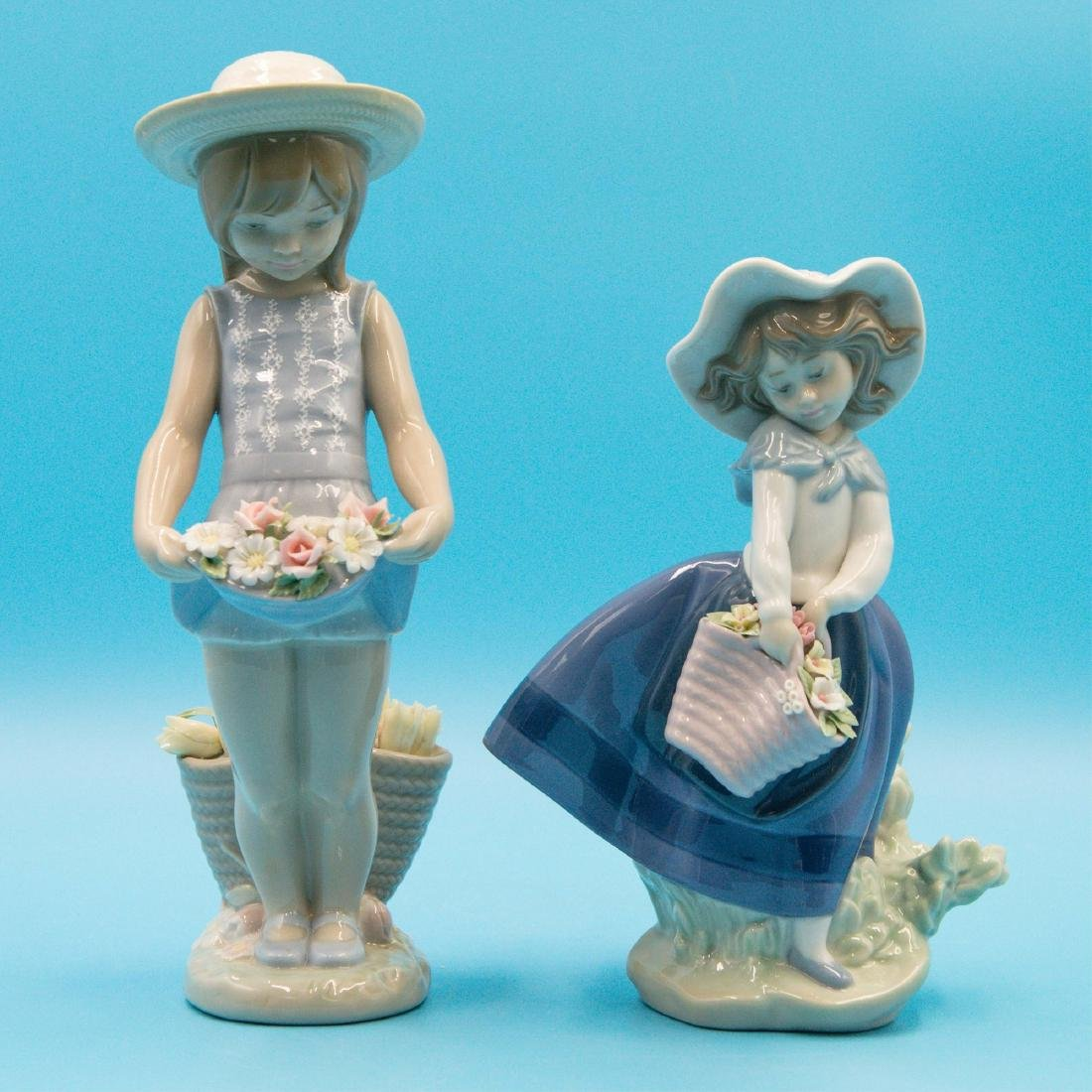 LLADRO MY FLOWERS AND PRETTY PICKINGS FIGURINES