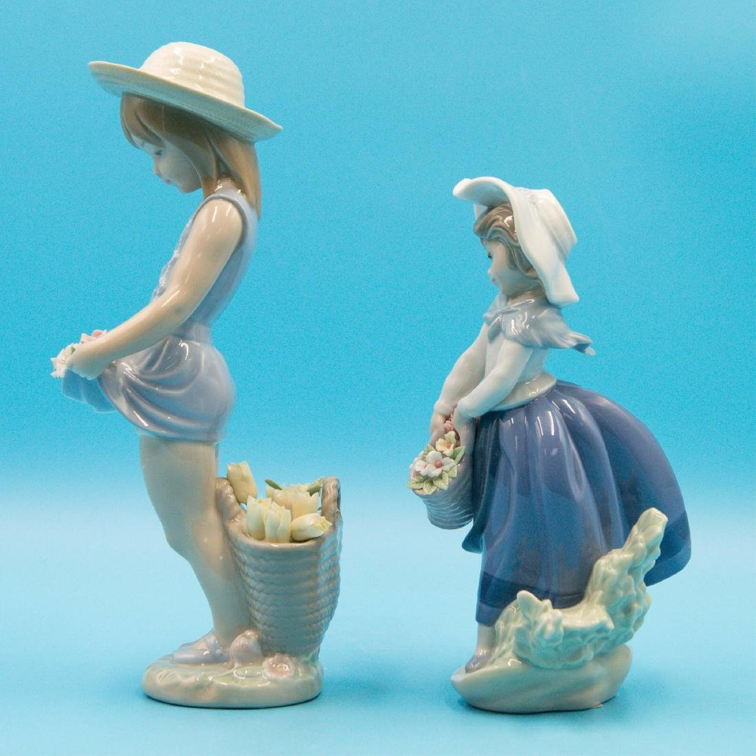 LLADRO MY FLOWERS AND PRETTY PICKINGS FIGURINES - 2