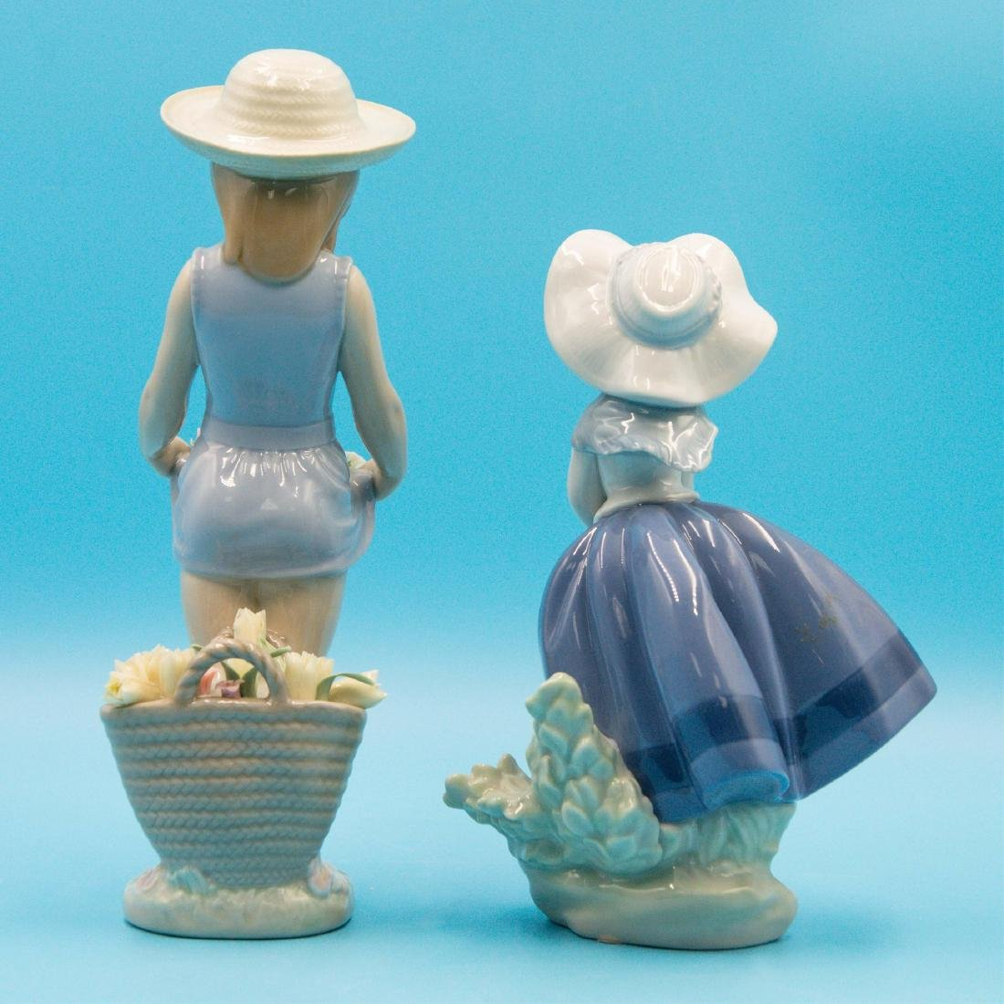 LLADRO MY FLOWERS AND PRETTY PICKINGS FIGURINES - 3