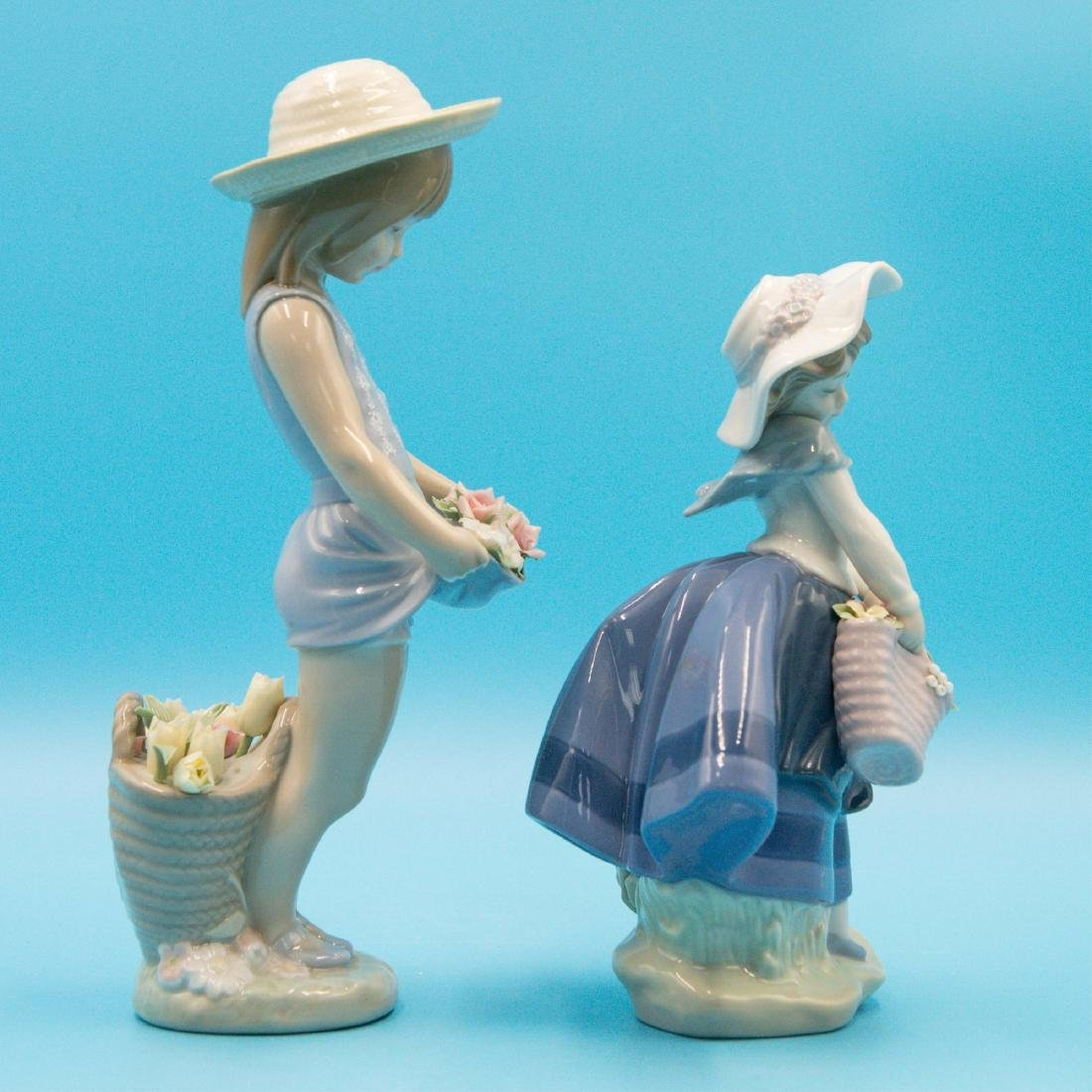 LLADRO MY FLOWERS AND PRETTY PICKINGS FIGURINES - 4