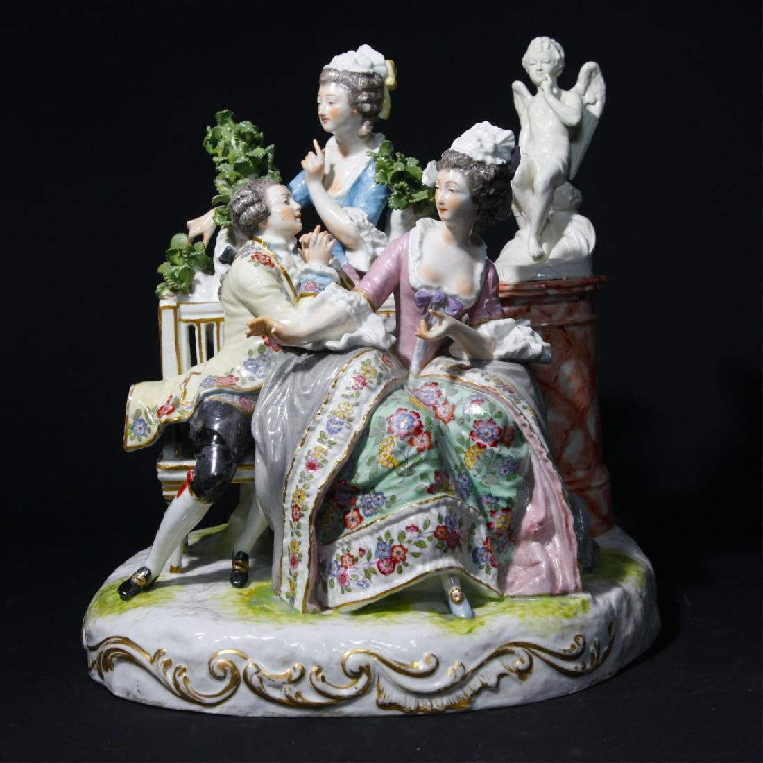SAMSON 19thC LARGE FRENCH PORCELAIN GROUP FIGURINE