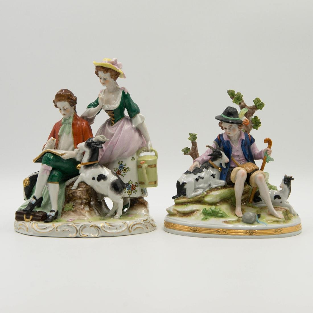 GROUP OF 2 SCHEIBE ALSBACH KISTER GERMAN PORCELAIN