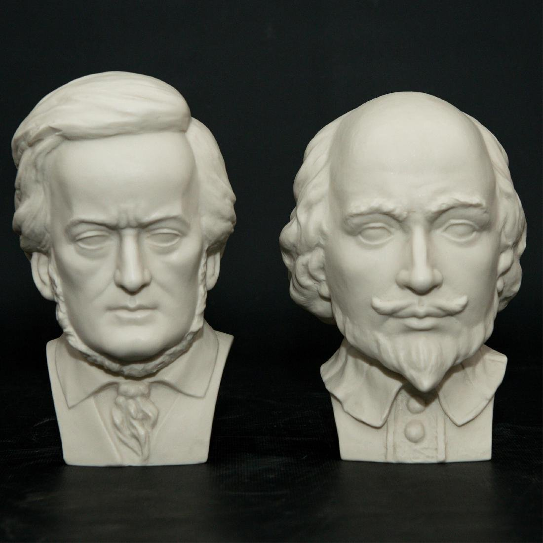 PAIR OF HUTSCHENREUTHER BISQUE PORCELAIN BUSTS