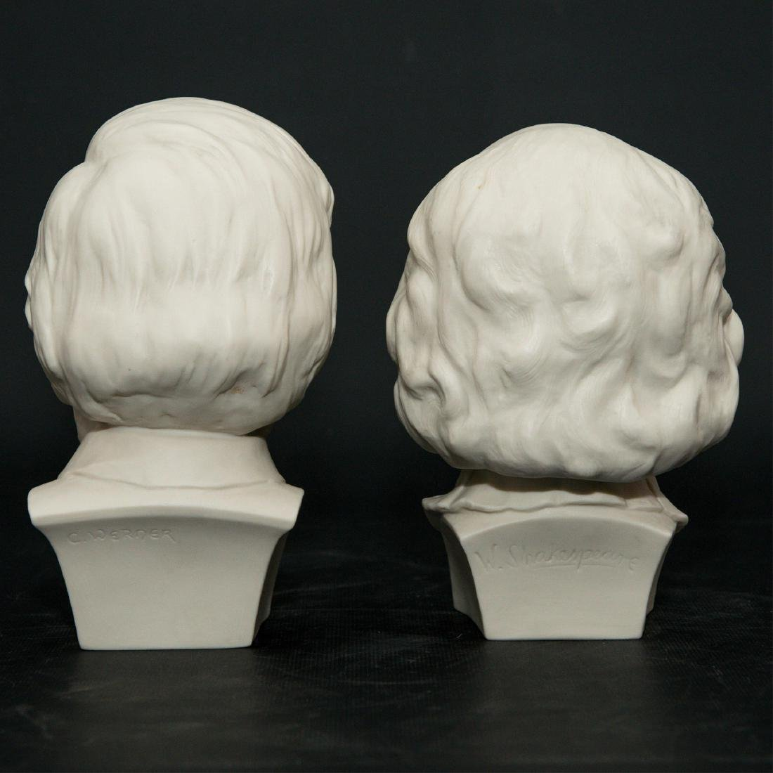 PAIR OF HUTSCHENREUTHER BISQUE PORCELAIN BUSTS - 2