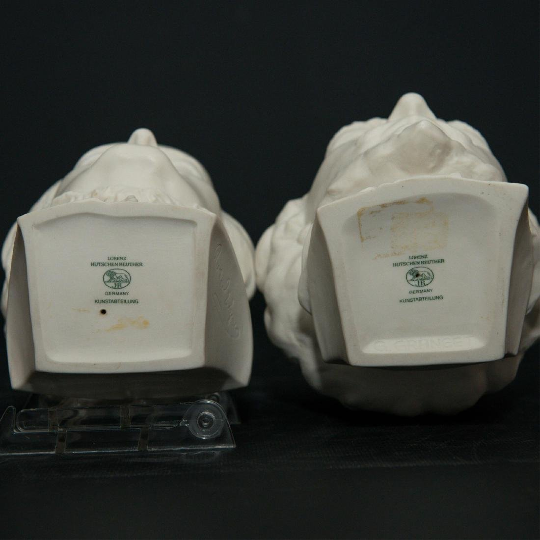 PAIR OF HUTSCHENREUTHER BISQUE PORCELAIN BUSTS - 8