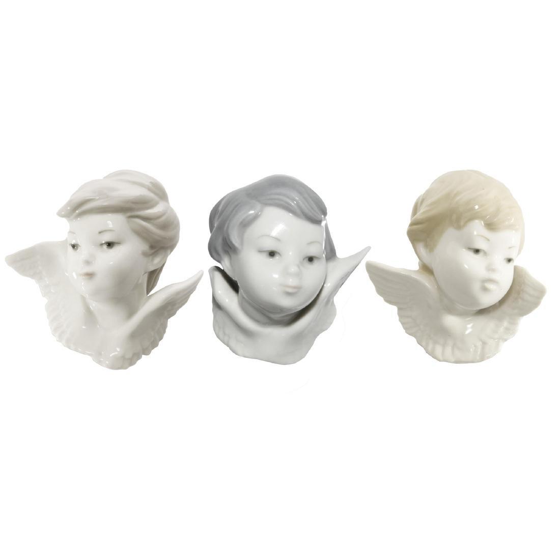 GROUP OF 3 LLADRO FIGURINES OF ANGELS CHERUBS