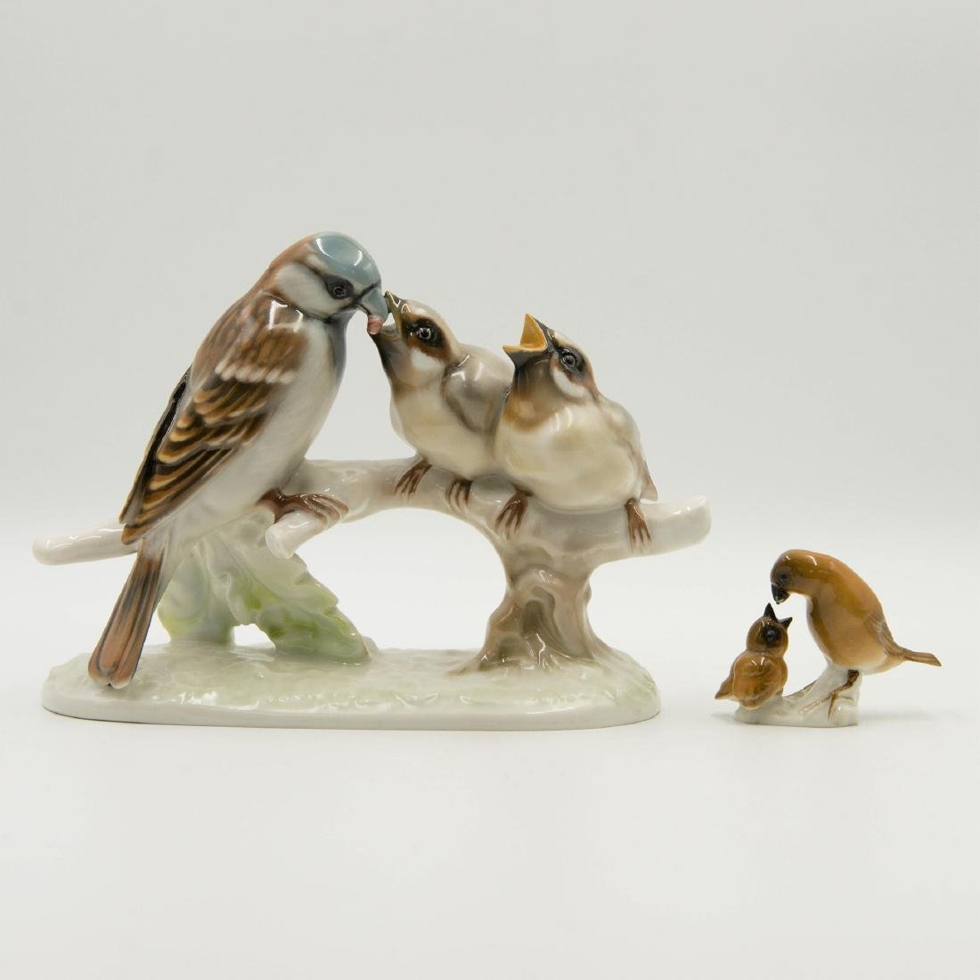 GROUP OF 2 HUTSCHENREUTHER BIRD FIGURINES