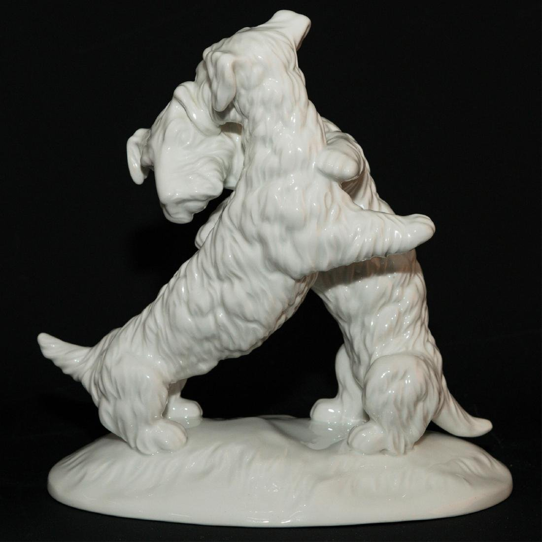 KPM BERLIN GERMANY LARGE PORCELAIN FIGURINE DOGS