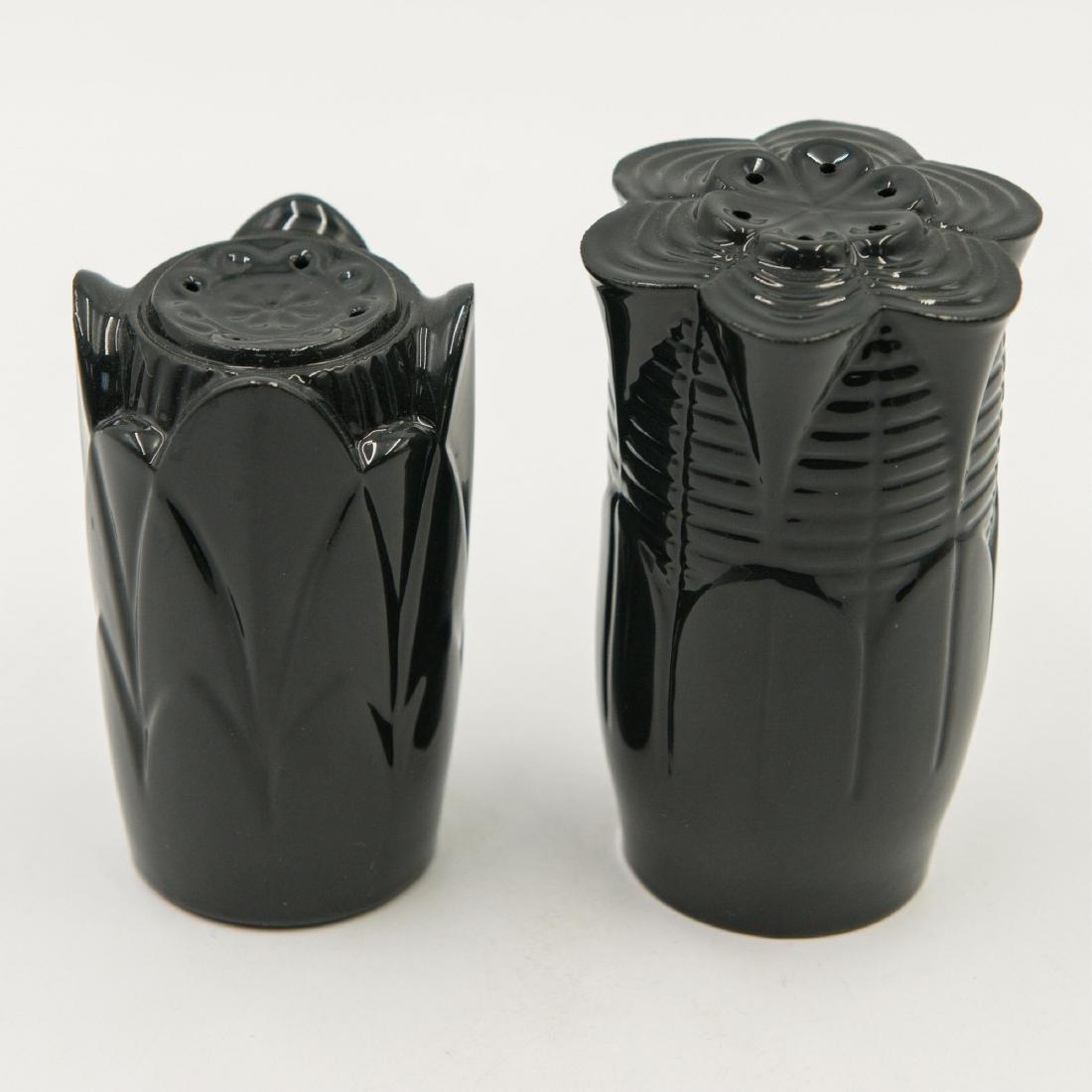 LLADRO NATUROFANTASTIC SALT & PEPPER SHAKERS BLACK - 2