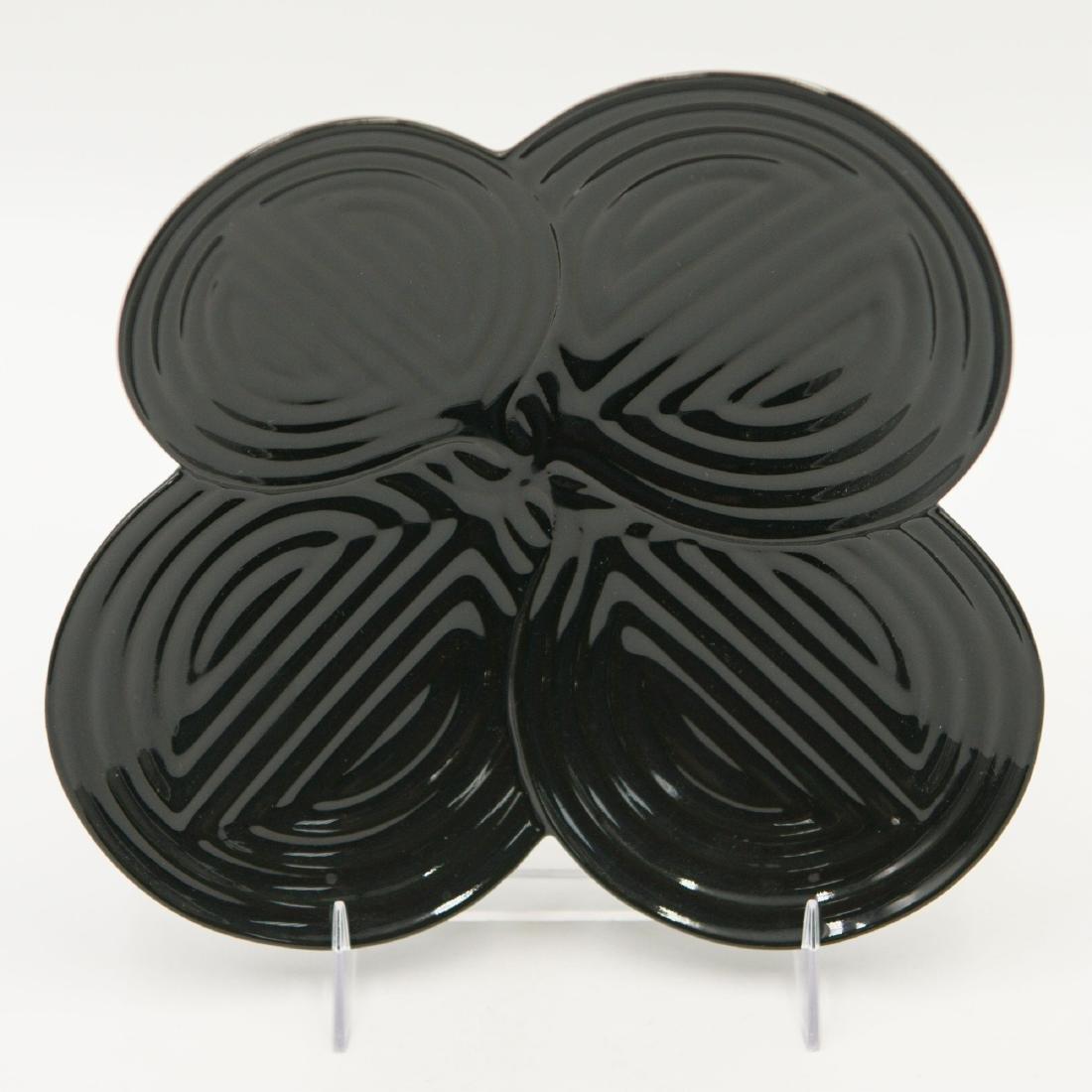 LLADRO NATUROFANTASTIC BLACK APPETIZER PLATE DISH