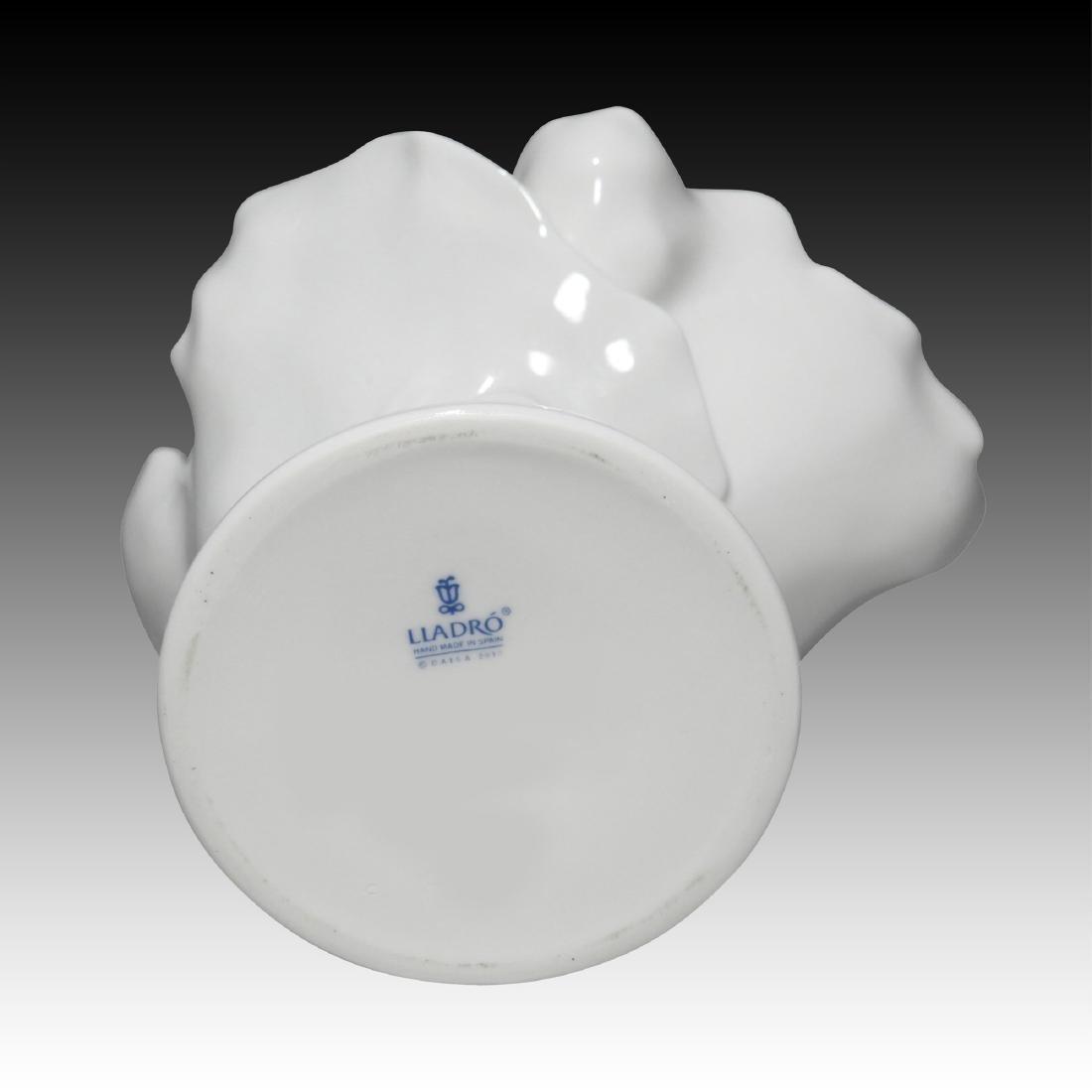 LLADRO NATUROFANTASTIC WHITE COCKTAIL GOBLET - 3