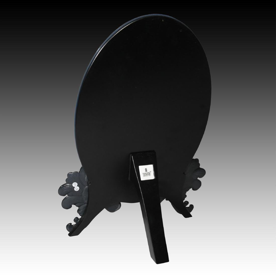 LLADRO BLACK ORNATE VANITY MIRROR TABLETOP - 3