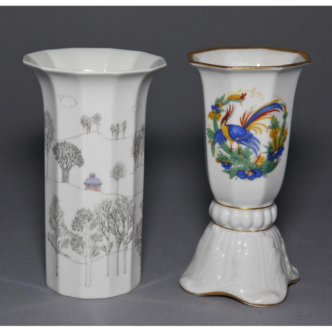 GROUP OF 3 ROSENTHAL PORCELAIN VASES & BOWL - 5