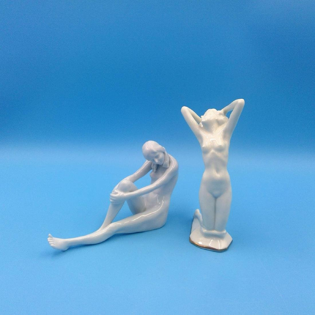 GROUP 2 ROSENTHAL & HUTSCHENREUTHER NUDE FIGURINES