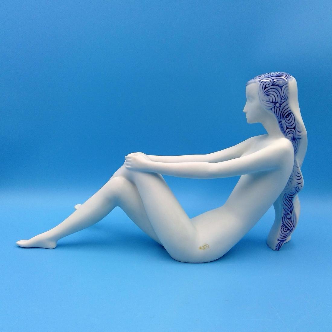 ROYAL DUX BOHEMIA ART DECO NUDE PORCELAIN FIGURINE - 3