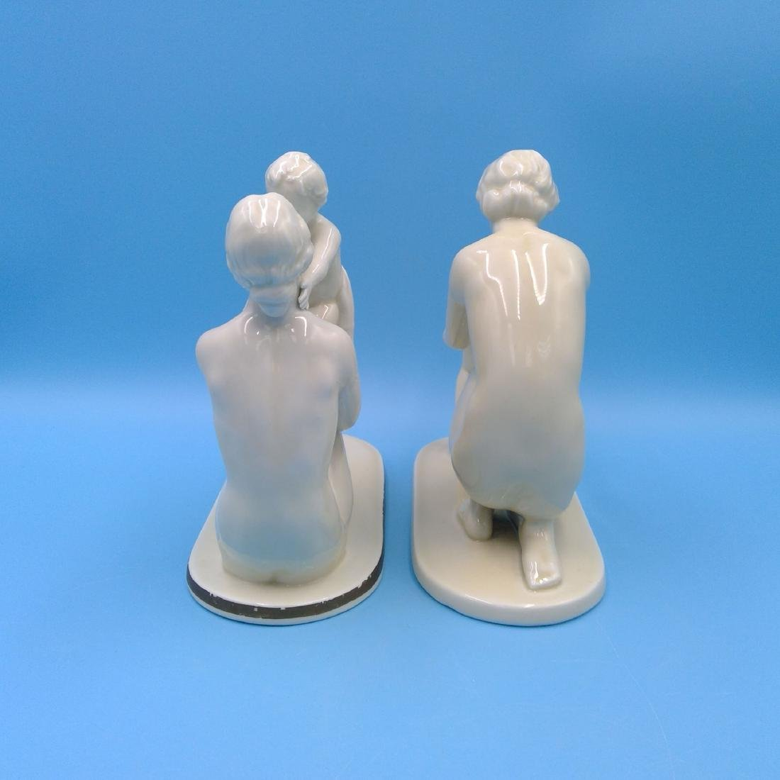 GROUP OF 2 NEUTETTAU PORCELAIN FIGURINES MOTHER - 2
