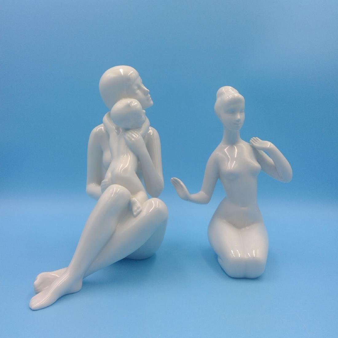 GROUP OF 2 ROYAL DUX BOHEMIAN NUDE FIGURINES