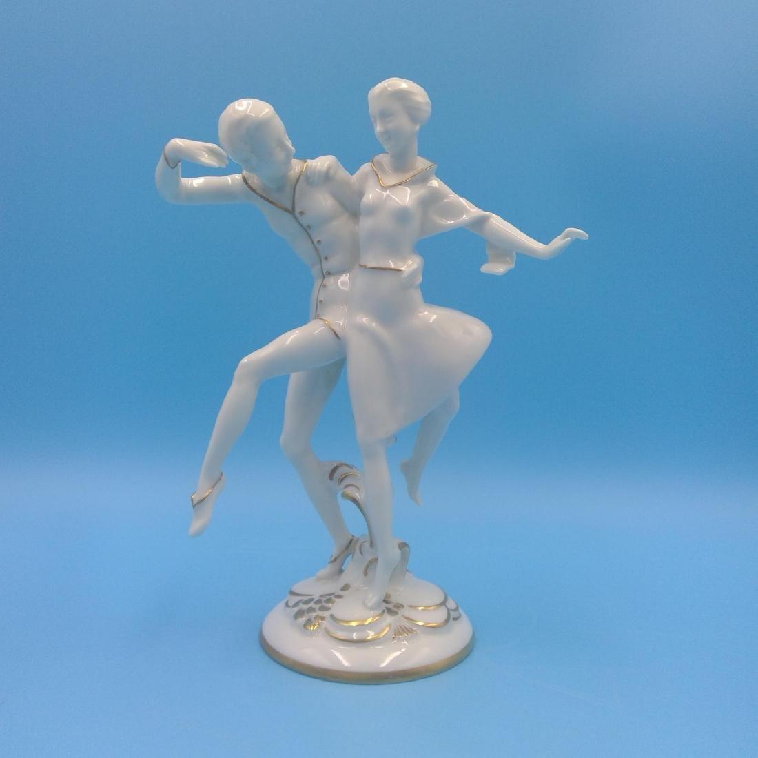 HUTSCHENREUTHER GERMAN PORCELAIN FIGURINE DANCERS