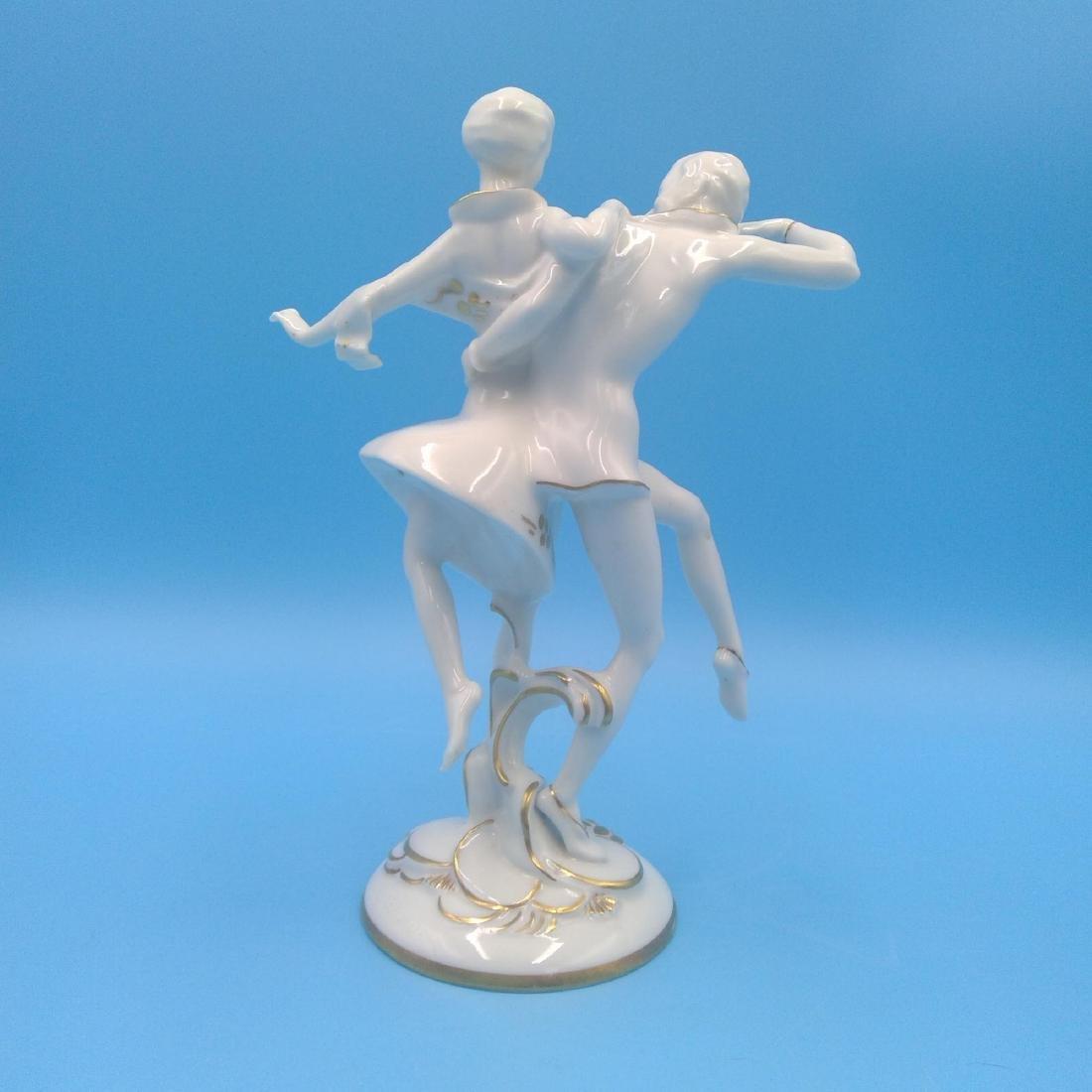 HUTSCHENREUTHER GERMAN PORCELAIN FIGURINE DANCERS - 3