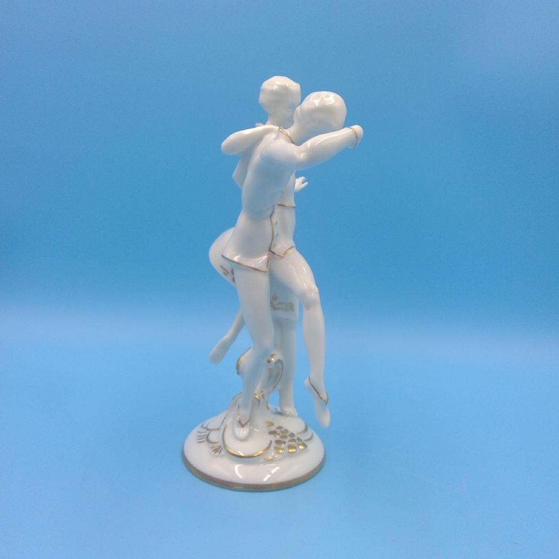 HUTSCHENREUTHER GERMAN PORCELAIN FIGURINE DANCERS - 4