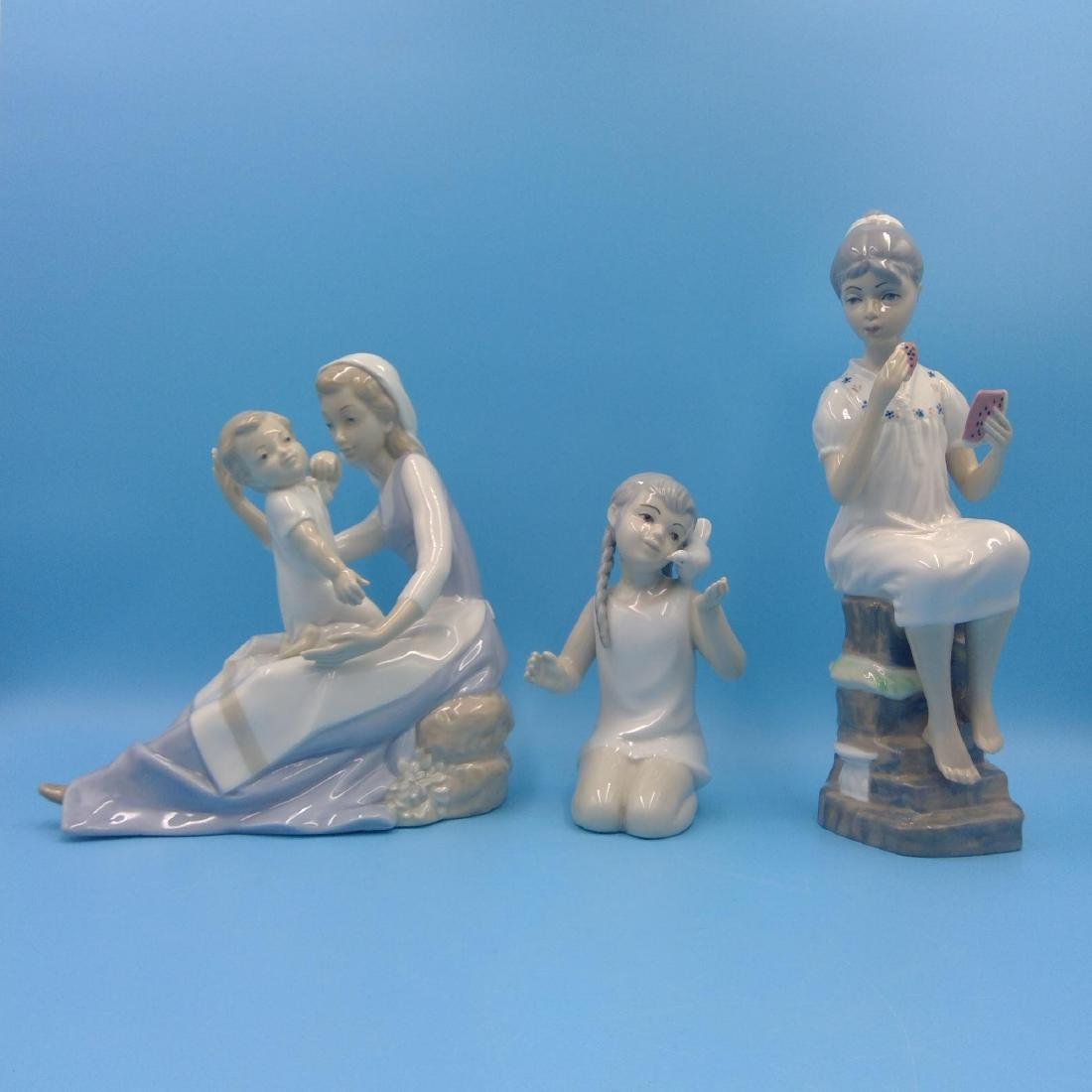 GROUP OF 3 SPANISH PORCELAIN FIGURINES