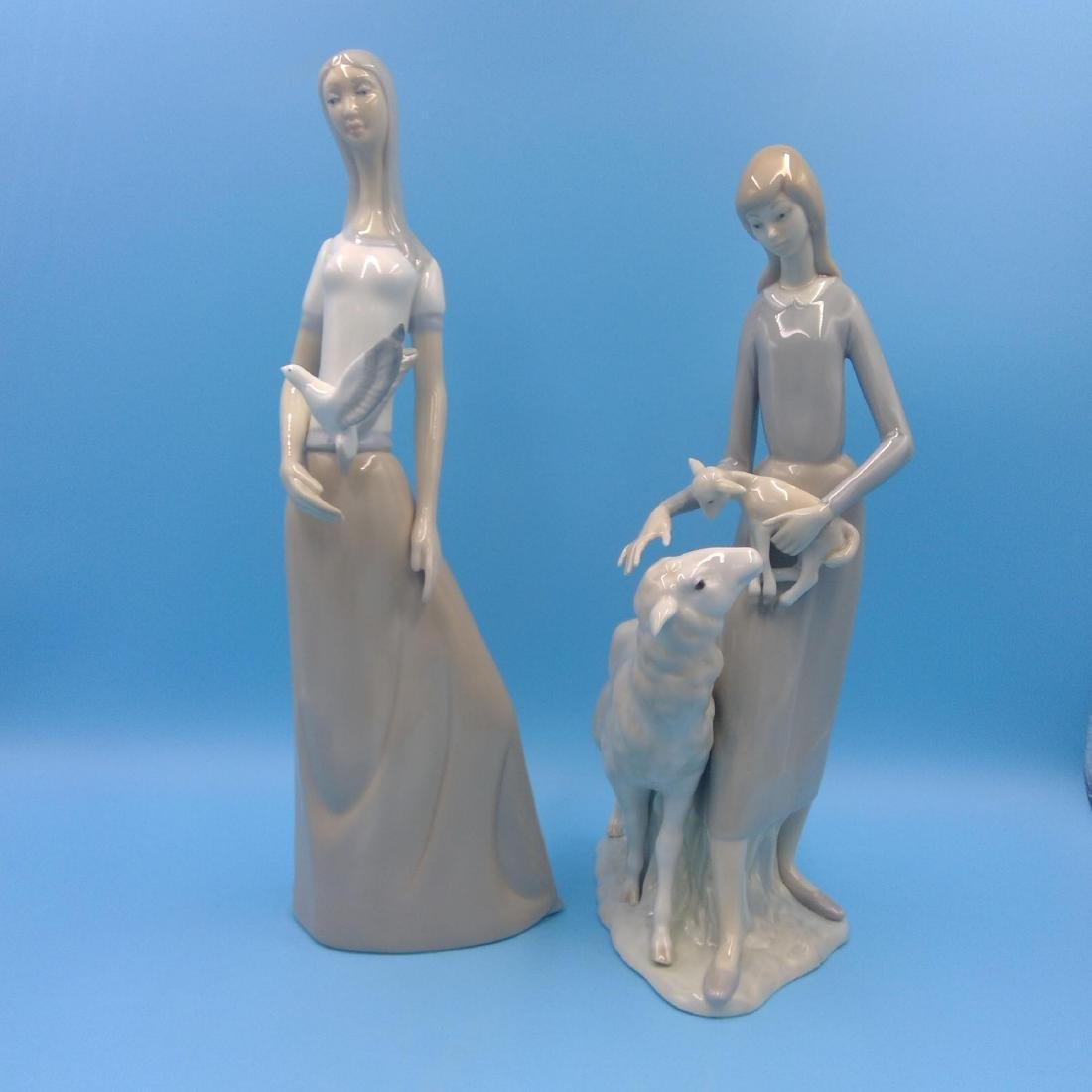 GROUP OF 2 LARGE SPANISH PORCELAIN FIGURINES