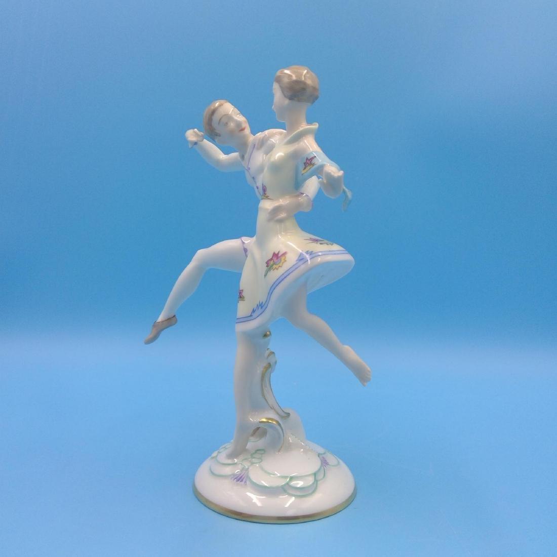 HUTSCHENREUTHER GERMAN PORCELAIN FIGURINE DANCERS - 2