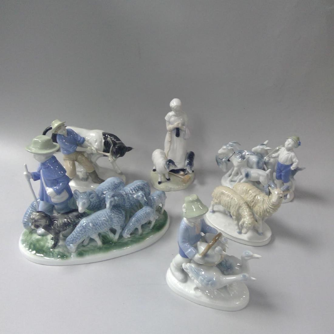 GROUP OF 6 GERMAN PORCELAIN FIGURINES