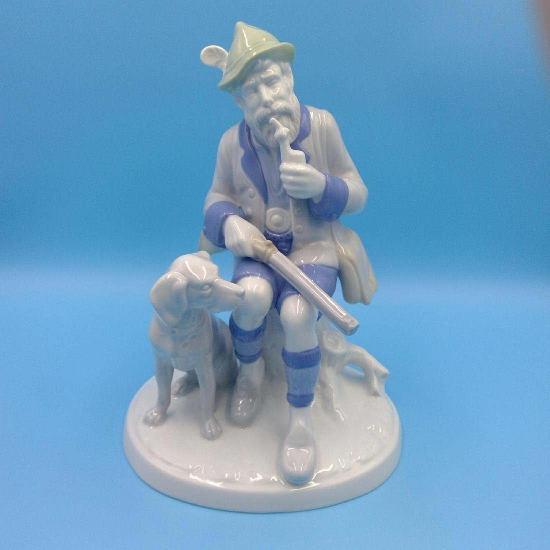 GROUP OF 4 LARGE GERMAN PORCELAIN FIGURINES - 2