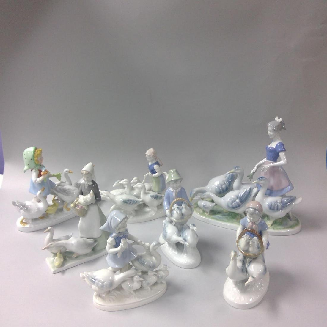 GROUP OF 7 GERMAN PORCELAIN FIGURINES