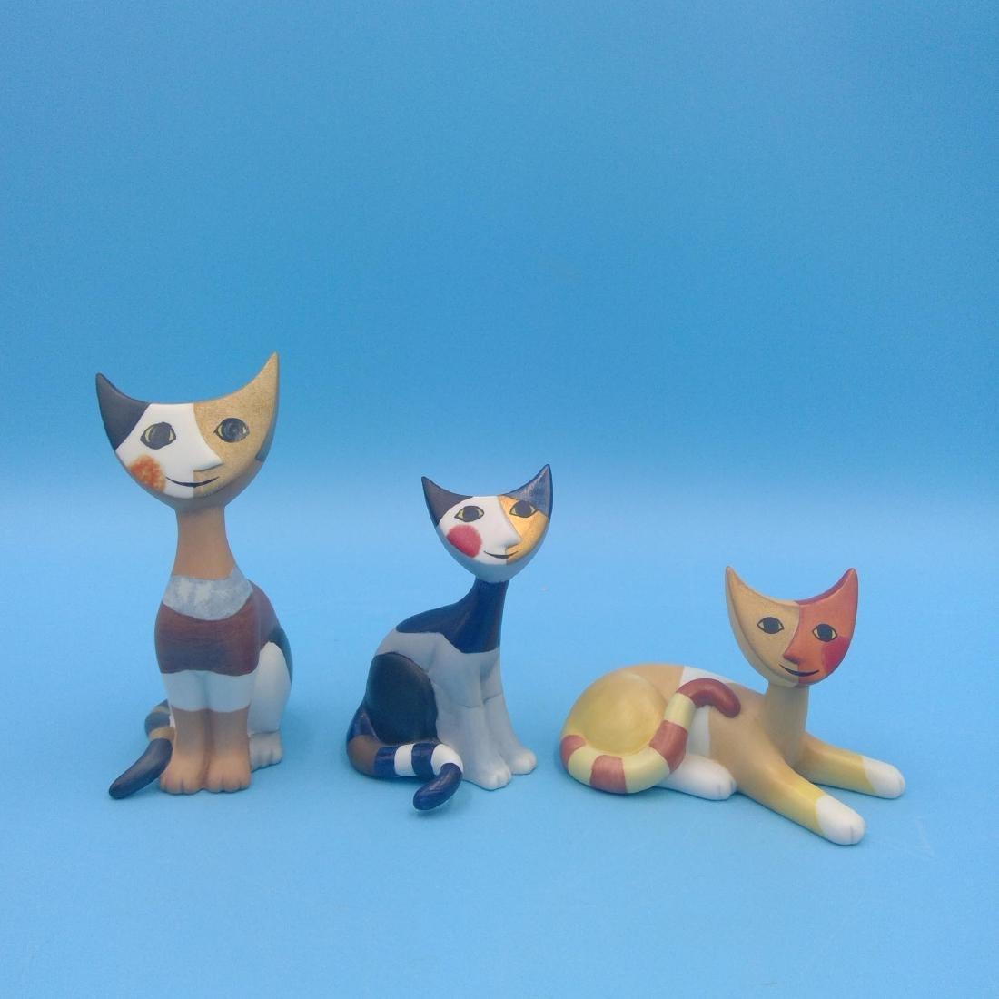 GROUP 3 GOEBEL ROSINA WACHTMEISTER CAT FIGURINES