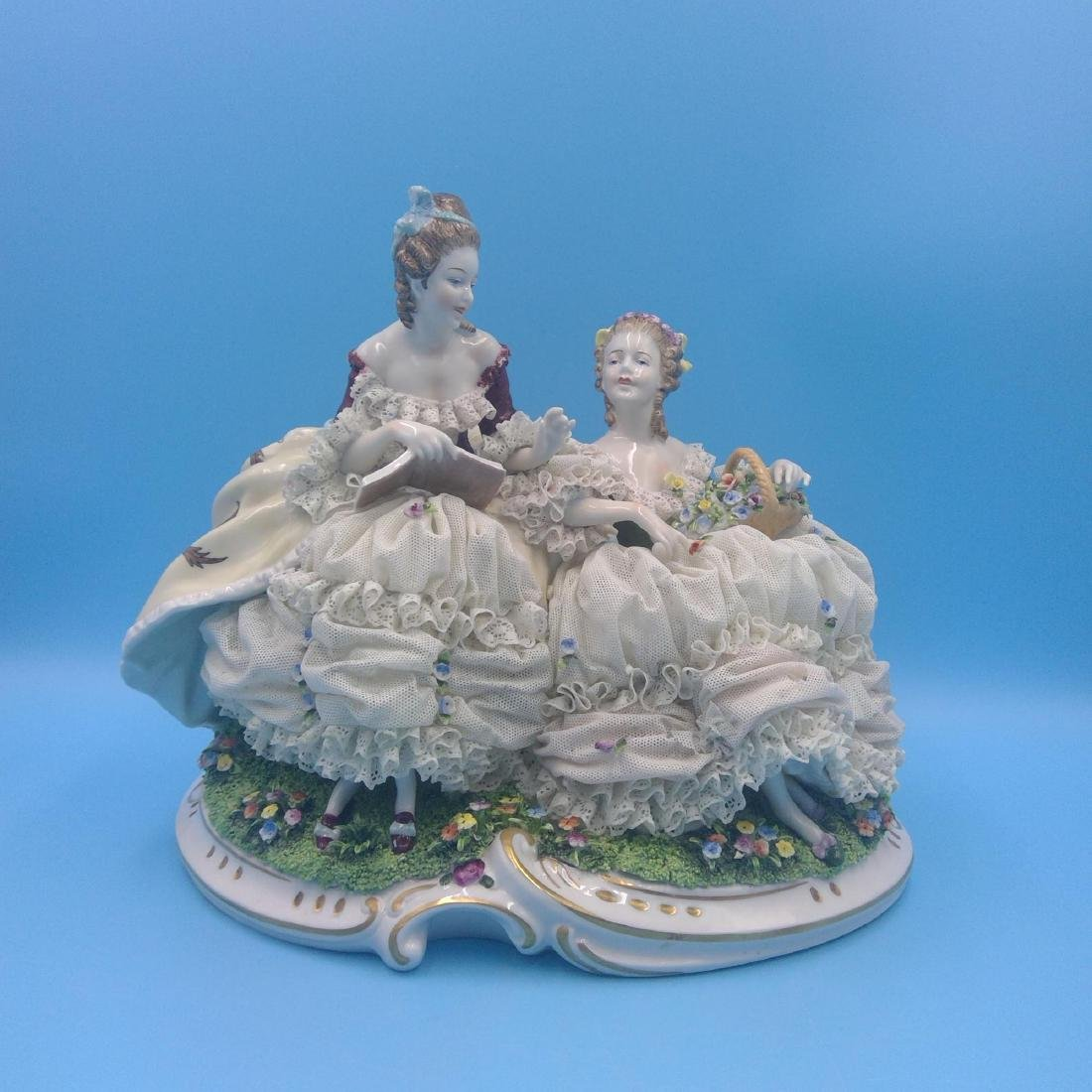 UNTER WEISS BACH LARGE GERMAN PORCELAIN GROUP