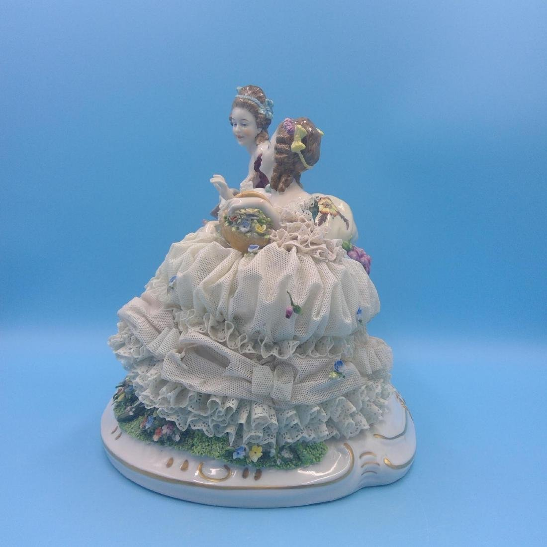 UNTER WEISS BACH LARGE GERMAN PORCELAIN GROUP - 2