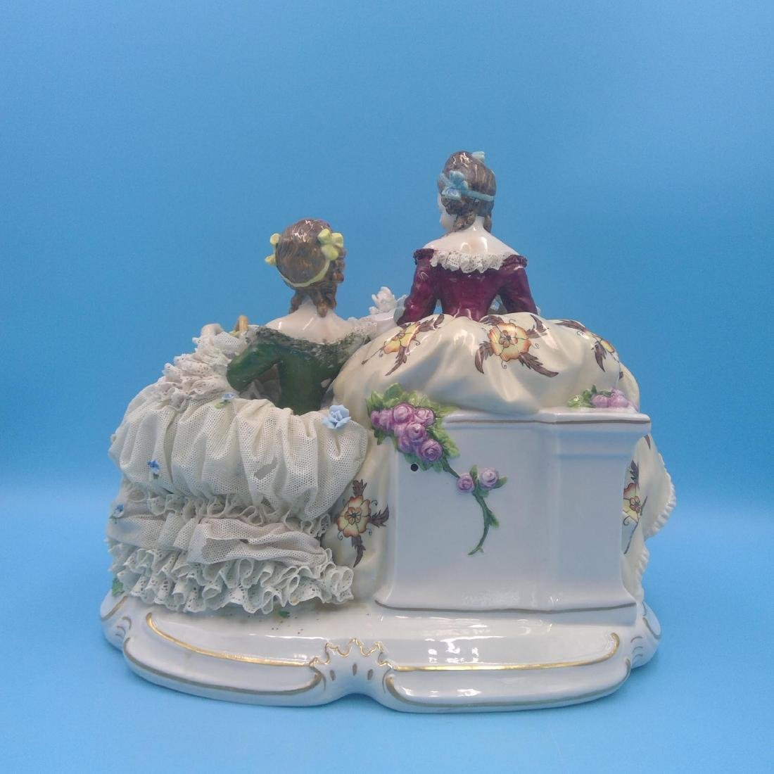 UNTER WEISS BACH LARGE GERMAN PORCELAIN GROUP - 3